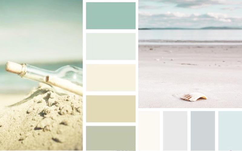 schemat kolorystyczny dla stylu coastal