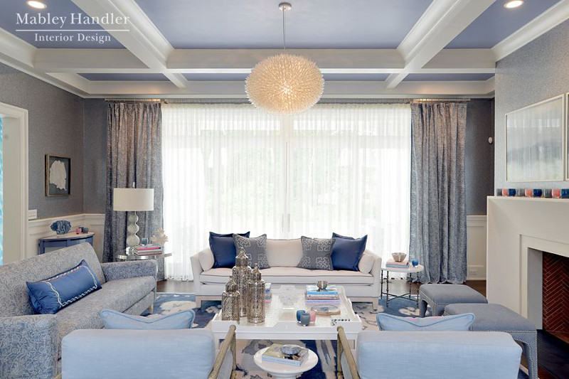 Hampton style luksus komfort tradycja projektowanie - Green living room ideas in east hampton new york ...